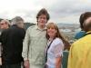 Jerry Schilling und Sabine Kraus oben an Deck